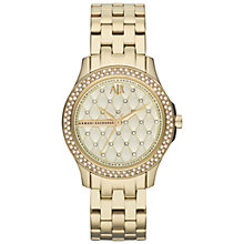 Buy Armani Exchange AX5216 Women's Bracelet Strap Watch, Gold Online at johnlewis.com