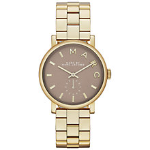 Buy Marc by Marc Jacobs MBM3281 Women's Grey Dial Baker Bracelet Strap Watch, Gold Online at johnlewis.com