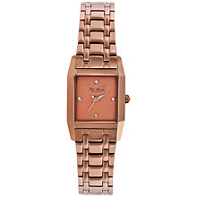 Buy Ted Baker TE4079 Women's Rectangle Crystal Set Dial Bracelet Strap Watch, Rose Gold Online at johnlewis.com
