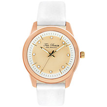 Buy Ted Baker TE2103 Women's Crystal Set Round Dial Leather Strap Watch, Rose Gold Online at johnlewis.com