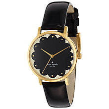 Buy kate spade new york 1YRU0227 Women's Metro Scallop Dial Leather Strap Watch, Black Online at johnlewis.com