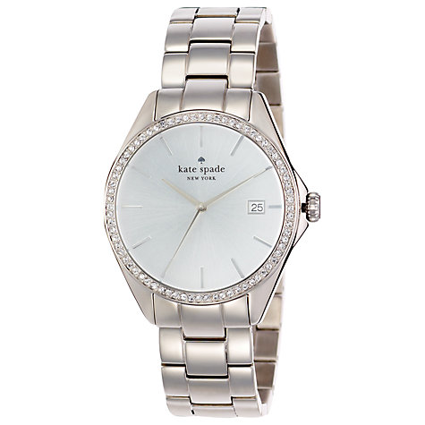 Buy kate spade new york Women's Seaport Crystal Bezel Watch Online at johnlewis.com