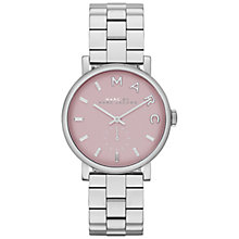 Buy Marc by Marc Jacobs Women's Coloured Dial Bracelet Strap Watch, Silver Online at johnlewis.com