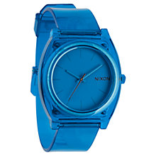 Buy Nixon Unisex The Time Teller Polycarbonate Translucent Strap Watch, Blue Online at johnlewis.com