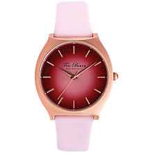 Buy Ted Baker TE2097 Women's Cherry Red Round Dial Leather Strap Watch, Pink Online at johnlewis.com