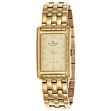 Buy kate spade new york 1YRU0118 Women's Cooper Crystal Bezel Rectangular Watch, Gold Online at johnlewis.com