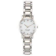 Buy kate spade new york 1YRU0146 Women's Gramercy Mini Crystal Bracelet Strap Watch, Silver/White Online at johnlewis.com