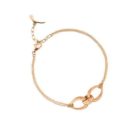 Buy Dinny Hall 18ct Rose Gold Plate Small Toro Double Hoop Pendant Online at johnlewis.com