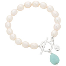Buy Claudia Bradby Green Amazonite Drop Pearl Bracelet, Silver Online at johnlewis.com