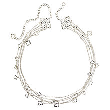 Buy Dinny Hall Sterling Silver Talitha Quatrefoil Statement Necklace Online at johnlewis.com