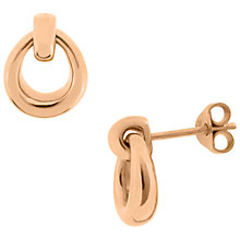 Buy Dinny Hall Small Toro Hoop Stud Earrings, Rose Gold Online at johnlewis.com