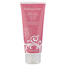 Buy Balance Me Rose Otto Hand Cream, 100ml Online at johnlewis.com