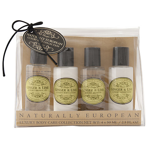 Buy Naturally European Ginger & Lime Luxury Travel Collection, 4 x 50ml Online at johnlewis.com