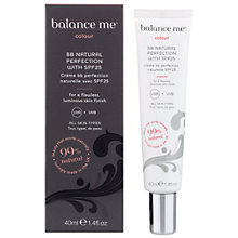 Buy Balance Me Natural Perfection SPF25 BB Creme, 40ml Online at johnlewis.com