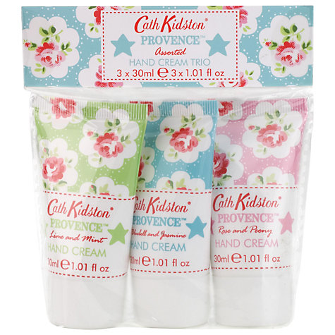 Buy Cath Kidston Provence Assorted Hand Cream, 3 x 30 ml Online at johnlewis.com