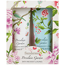 Buy Heathcote & Ivory Sanderson Porcelain Garden Bath & Body Set, 2 x 100ml Online at johnlewis.com