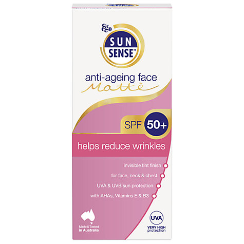Buy Sunsense Daily Anti-Ageing Face Matte SPF50+ Sunscreen, 100ml Online at johnlewis.com