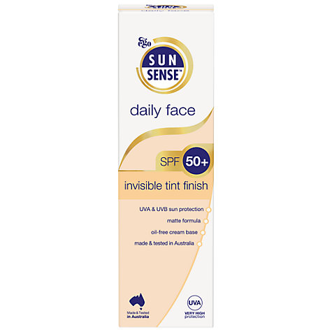 Buy Sunsense Daily Face Invisible Tint Finish SPF 50+ Sunscreen, 75ml Online at johnlewis.com