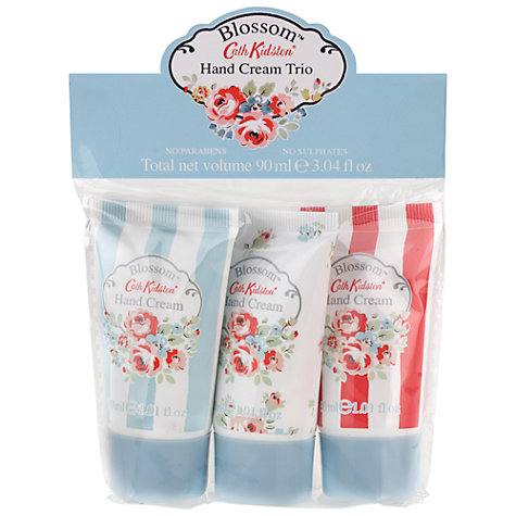 Buy Cath Kidston Blossom Hand Cream Trio, 3 x 30ml Online at johnlewis.com