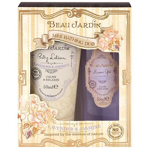 Buy Heathcote & Ivory Beau Jardin Lavender & Jasmine Mini Bath Duo Set Online at johnlewis.com
