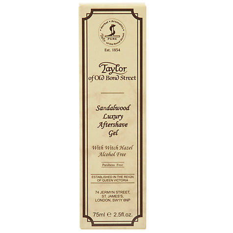 Buy Taylor of Old Bond Street Sandalwood Luxury Aftershave Gel, 75ml Online at johnlewis.com