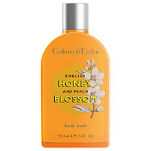 Buy Crabtree & Evelyn English Honey & Peach Blossom Body Wash, 250ml Online at johnlewis.com