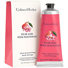 Buy Crabtree & Evelyn Pear & Pink Magnolia Hand Therapy Cream, 100g Online at johnlewis.com
