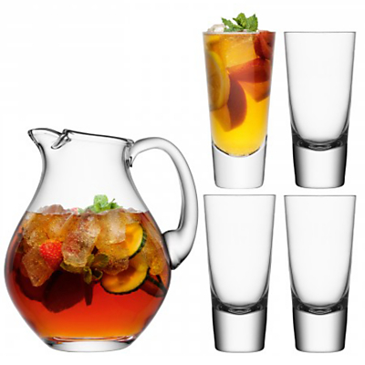 LSA International Bar Collection Punch Jug and Glasses Set