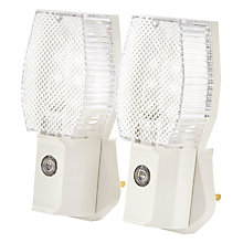 Buy John Lewis Automatic Dusk to Dawn Plug-in Night Light, Pack of 2 Online at johnlewis.com