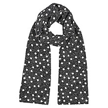 Buy Precis Petite Long Spot Scarf, Blue Online at johnlewis.com
