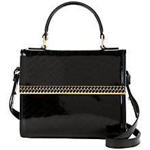 Buy Ted Baker Telia T Emboss Mini Tote Handbag, Black Online at johnlewis.com
