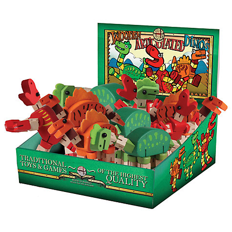 Buy Wooden Articulated Dino, Assorted Online at johnlewis.com