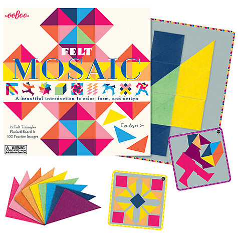 Buy Eeboo Felt Mosaic Game Online at johnlewis.com