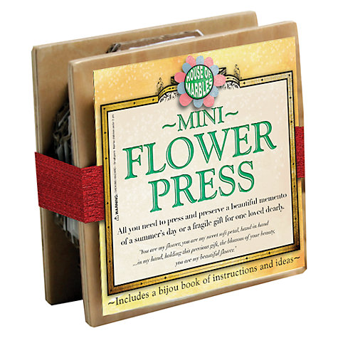 Buy House of Marbles Mini Flower Press Online at johnlewis.com