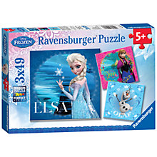 Buy Ravensburger Disney Frozen 3 x 49 Piece Puzzles Online at johnlewis.com