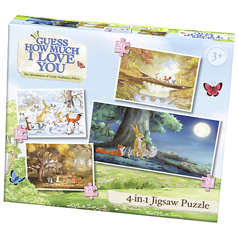 Buy Guess How Much I Love You 4-in-1 Jigsaw Puzzle Online at johnlewis.com