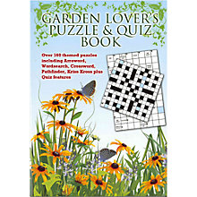 Buy Puzzler Media Garden Lover's Puzzle and Quiz Book Online at johnlewis.com