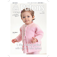 Buy Patons DK Baby Jacket Knitting Leaflet Online at johnlewis.com