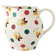 Buy Emma Bridgewater Polka Dot Pansy Jug Online at johnlewis.com