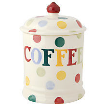 Buy Emma Bridgewater Polka Dot Coffee Jar Online at johnlewis.com
