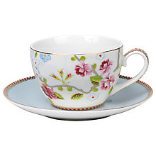 Buy PiP Studio Chinese Rose Cup & Saucer Online at johnlewis.com