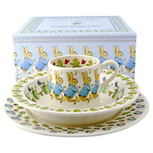 Buy Emma Bridgewater Peter Rabbit China Set, Set of 3 Online at johnlewis.com