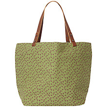 Buy White Stuff Canvas Printed Shopper, Avocado Online at johnlewis.com