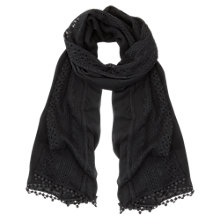 Buy Mint Velvet Geo Lace Scarf, Navy Online at johnlewis.com