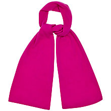 Buy Jaeger Plain Knit Cashmere Scarf, Bright Pink Online at johnlewis.com