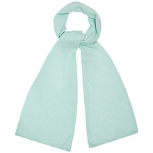 Buy Jaeger Cashmere Plain Knit Scarf, Pale Green Online at johnlewis.com
