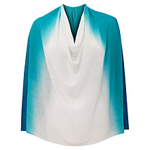 Buy East Dip Dye Linen Poncho, Peacock Online at johnlewis.com