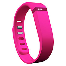 Buy Fitbit Flex Wireless Activity and Sleep Tracking Wristband, Pink + FREE Accessory Pack Online at johnlewis.com