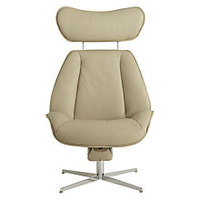 Buy Fjords motionconcept Tazio High Armchair with Chrome Base, Light Grey Online at johnlewis.com