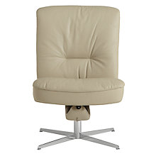 Buy Fjords motionconcept Bordini Low Leather Recliner Chair with Chrome Base, Light Grey Online at johnlewis.com